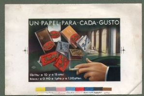 Cigarette Rolling Papers printer's proof for cigarette rolling papers #081